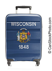 Suitcase with US state flag series - Wisconsin - Suitcase...