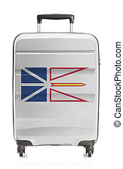 Suitcase with Canadian territory and province flag series -...