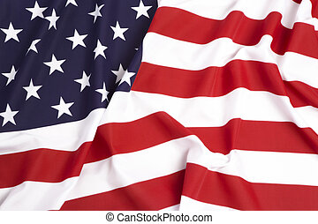 United States flag as a background