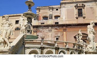 Piazza Pretoria or Piazza della Vergogna, Palermo, Sicily,...