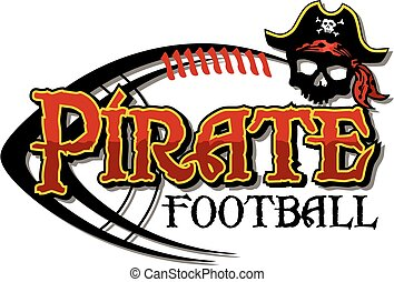 pirate football - pirate team design with distressed...