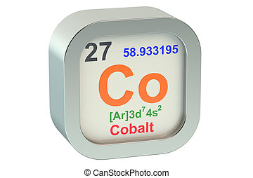 Cobalt element symbol  isolated on white background