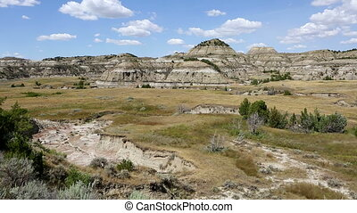Theodore Roosevelt NP Badlands - A view overlooking the...