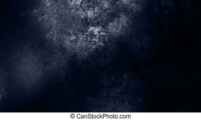 Blue Tint Horror Words Background non looping