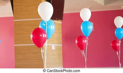 Bunches Of Colourful Balloons Decorating Room - DOLLY:...
