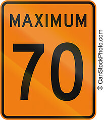 Temporary Maximum Speed 70 Kmh in Canada - Temporary road...