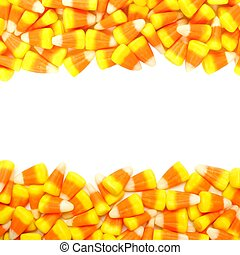 Halloween candy corn double border