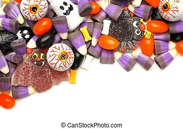 Halloween candy border - Halloween candy corner border over...