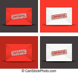 confidential envelope set