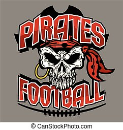 pirates football team design with skull