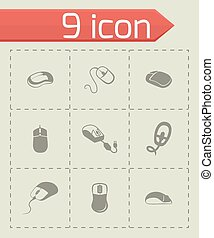 Vector Computer mouse icon set