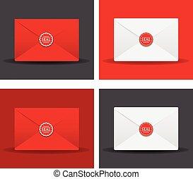 set of sealed envelopes