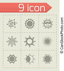 Vector sun icon set