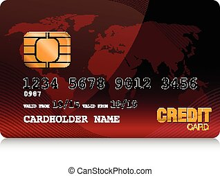 red  credit card