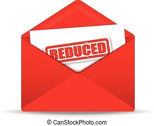 reduced white envelope