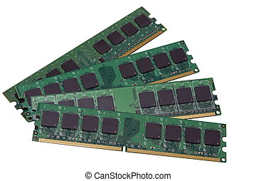 DDR2 RAM - DDR computer memory chips.