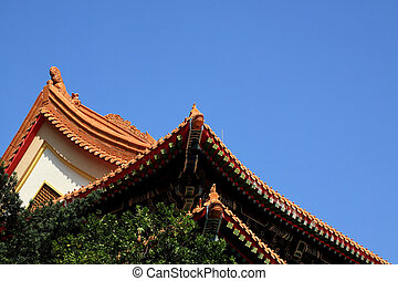The roof of chinese temple