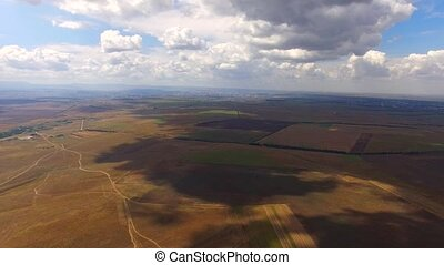Solar Power Stations Among Agricultural Fields - PANORAMIC:...