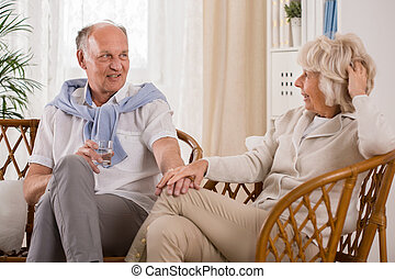 Spending time together - Elder couple likes to spend time...