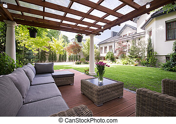 Luxury garden furniture - Photo of luxury garden furniture...