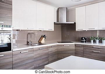 Bright spacious kitchen - Image of a bright spacious kitchen...
