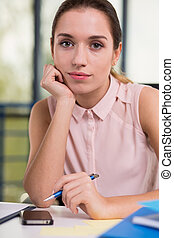 Portrait of female office worker - Portrait of young female...
