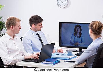 conferencia,  vídeo, empresa / negocio