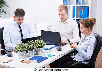 Office employees at work