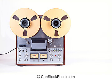 Analog Stereo Open Reel Tape Deck Recorder Player with Metal...