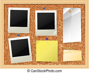 Cork Board with Pinned Paper