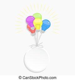 Circle and balloons light bulbs