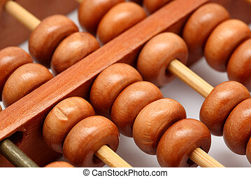 A closeup of abacus with white background