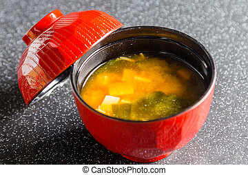 Miso - Japanese Food ,Miso on table