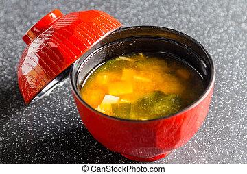 Miso - Japanese Food,Miso on table