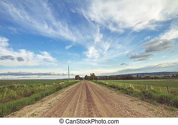 Country Road - Landscape of a summer country road on a...