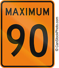 Temporary Maximum Speed 90 Kmh in Canada - Temporary road...