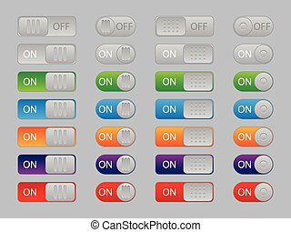 On-off buttons