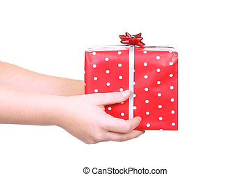 Dar, navidad, regalo