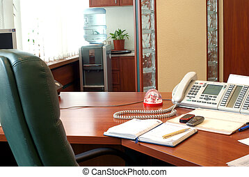 work place of secretary in office