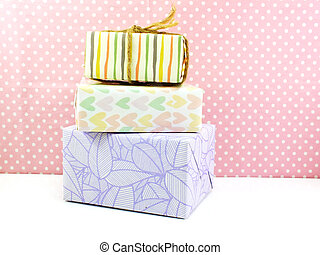 group of presents gift boxes