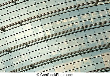 glass facade - detail of a glass facade