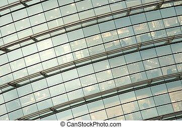 glass facade - detail of a glass facade