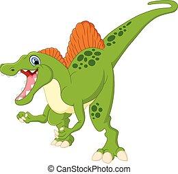 Dinosaur spinosaurus cartoon - vector illustration of...