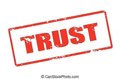 Trust - Rubber stamp with word trust inside, vector...