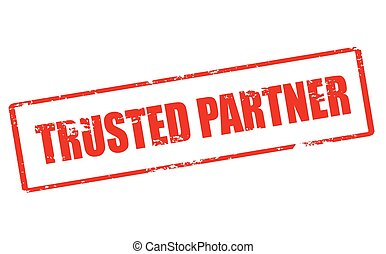 Trusted partner - Rubber stamp with text trusted partner...