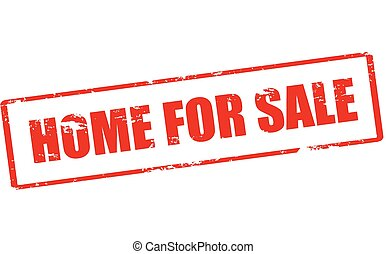 Home for sale - Rubber stamp with text home for sale inside,...