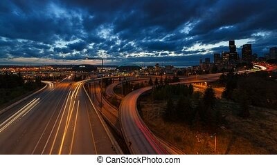 Time Lapse of Traffic in Seattle WA - Ultra High Definition...