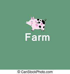 pink pig on a farm
