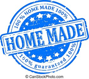 Scratched Seal - home made - Damaged round red stamped -...