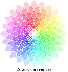 Vector color wheel